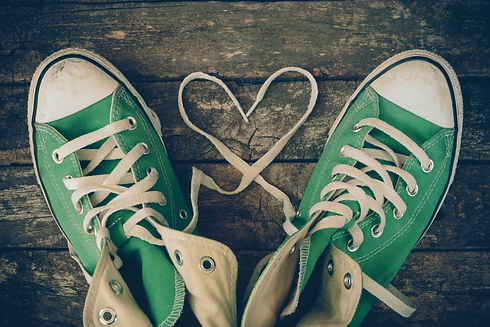 sneakers with heart with filter effect r