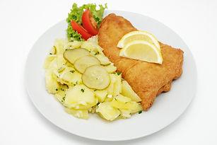 Battered fish with potato salad.jpg