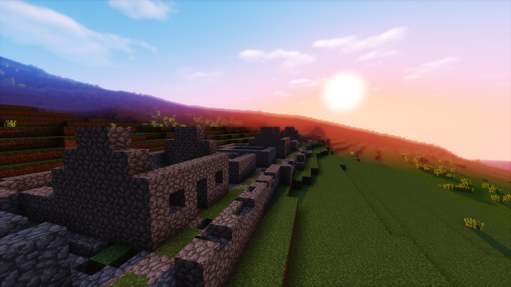 St Kilda built in Minecraft, part of Crafting the Past (c) Immersive Minds and Dig It! 2017