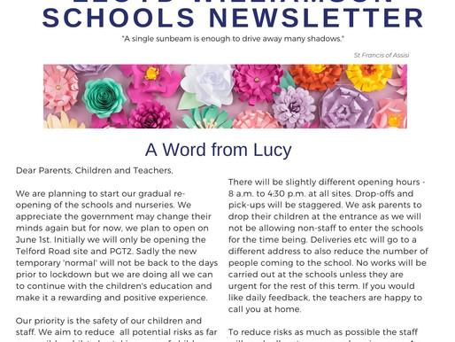 Newsletter 18/5/20