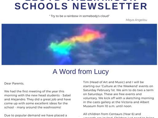 Newsletter 20/1/20