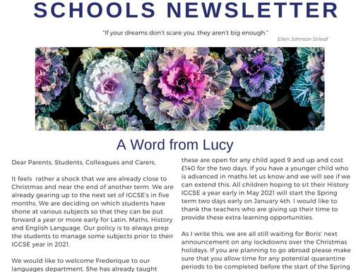 Newsletter 23/11/20
