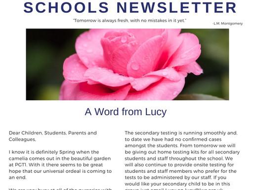 Newsletter 16/3/21