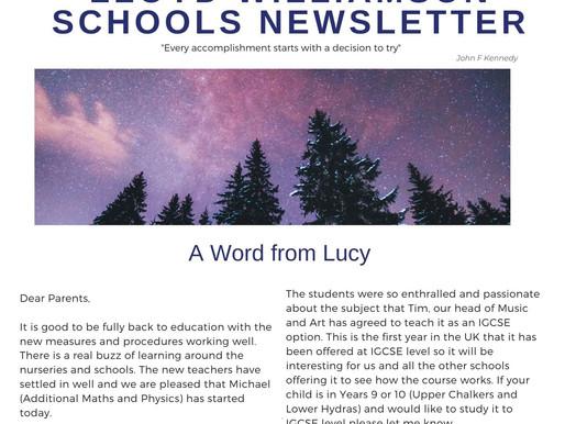 Newsletter 21/9/20
