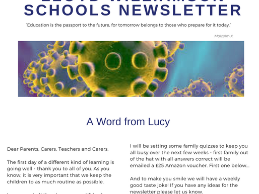 Newsletter 23rd March 2020