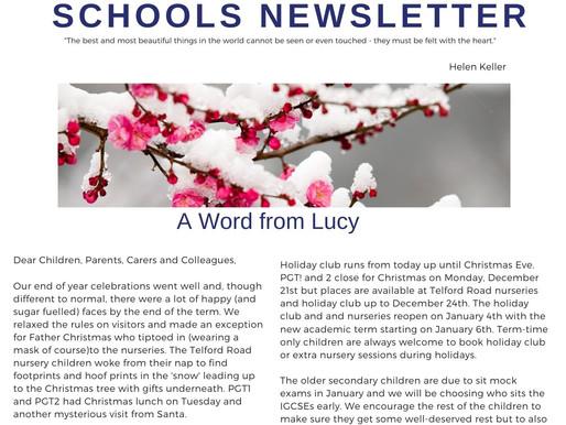 Newsletter 14/12/20
