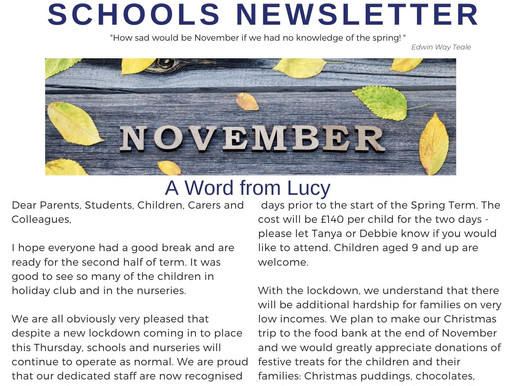 Newsletter 9.11.20