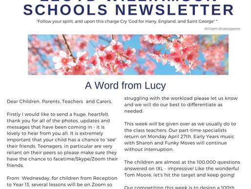 Newsletter 20/4/20