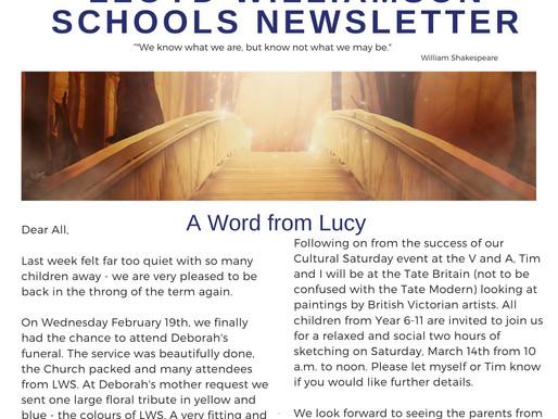 Newsletter 25/2/20