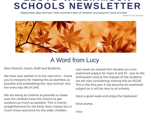Newsletter 14/9/20