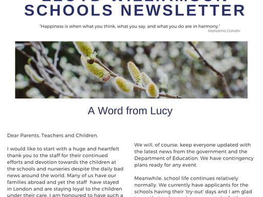 Newsletter 16//3/20