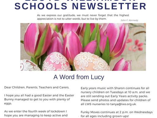 Newsletter 14/4/20