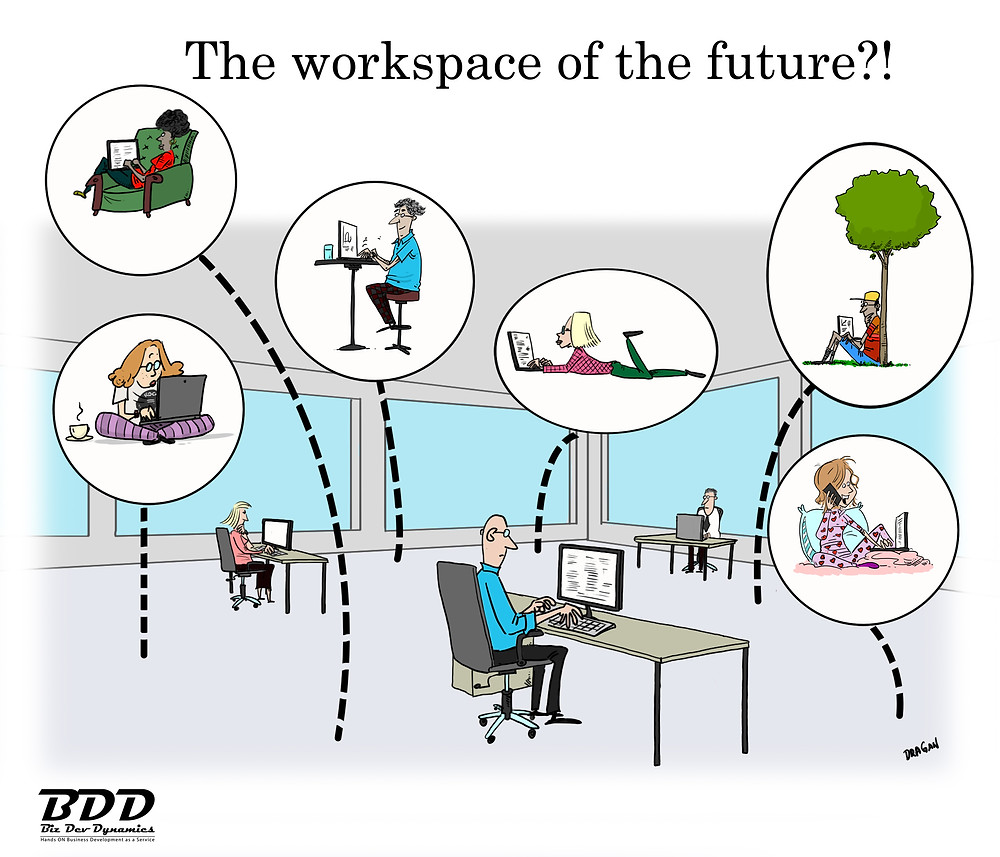 The workspace of the future image