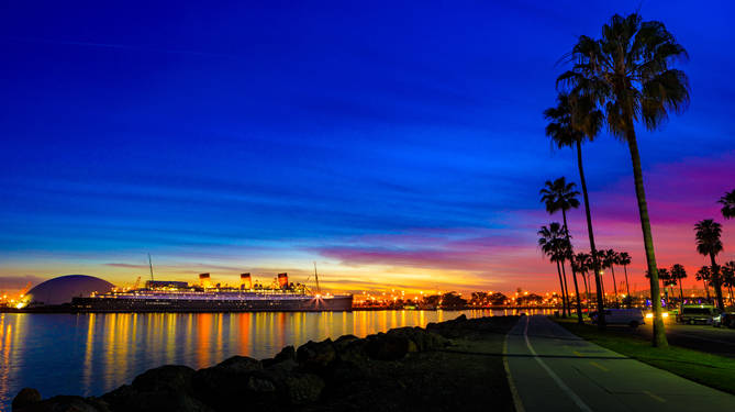 Queen Mary Sunset