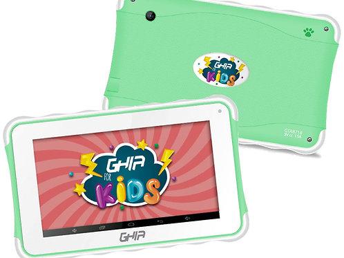 TABLET GHIA KID 7 VERDE QUADCORE 1GB/8GB 2CAM WiFi AND8.1(NOTGHIA-216)