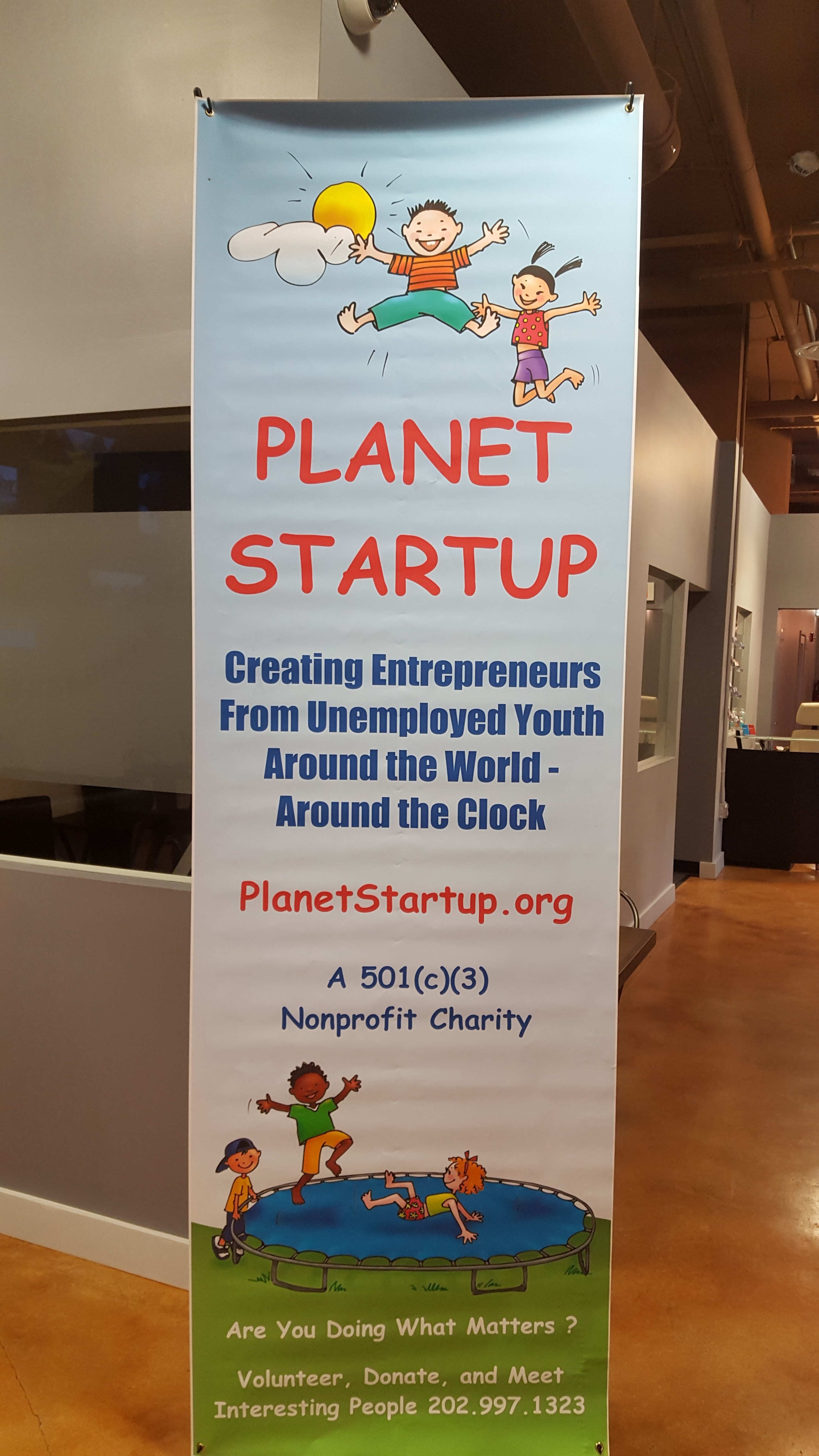 Waving the Planet Startup Flag