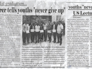 Major Newspaper Covers One of Our Graduations in Sierra Leone as Students Celebrate