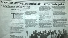Major Ghana Newspaper Covers Planet Startup Graduation in Agona Swedru