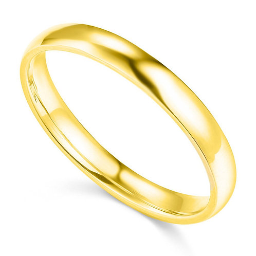 14k Yellow Gold 3-mm Comfort-fit Polished Wedding Band