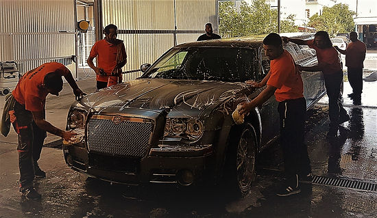 chrysler limo washed in car wash