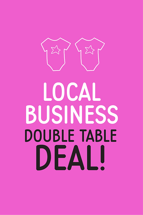 Local business double table deal