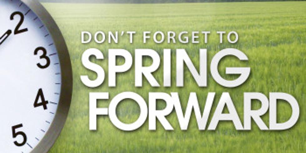 Spring Forward one hour