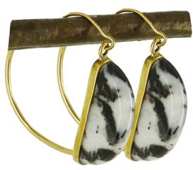 CARI EARRINGS - zebra agate