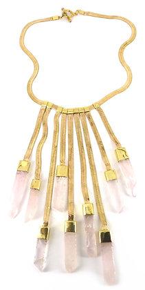 SERAPHINA NECKLACE - rose quartz