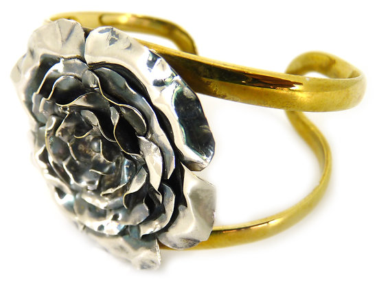 CRYA ROSE CUFF - silver