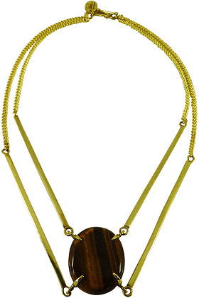 DEMETRA NECKLACE - tigers eye