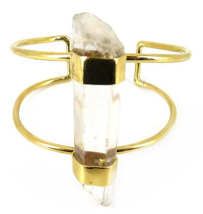 VENTINA CUFF - clear quartz