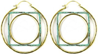 GEOMETRIC HOOP - square/circle