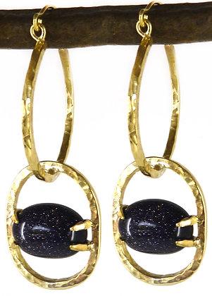 HONORA EARRING - blue goldstone