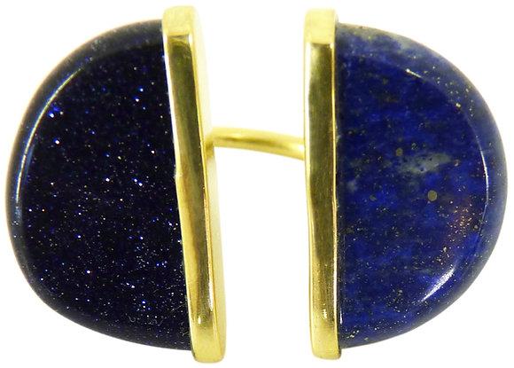 AUBRY RING - blue goldstone & lapis lazuli