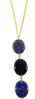 DELFINE NECKLACE - lapis lazuli & blue goldstone