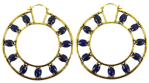 OTTO EARRING - lapis lazuli & blue goldstone