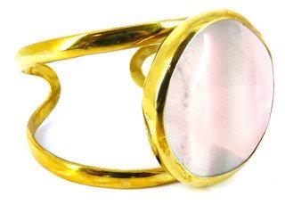 COSIMA CUFF - rose quartz