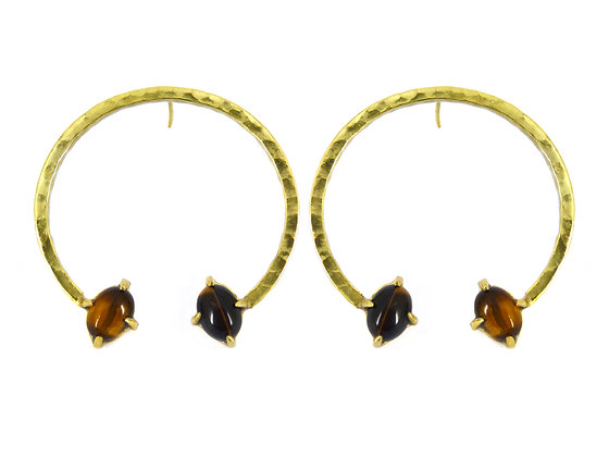 THORA EARRING - tigers eye