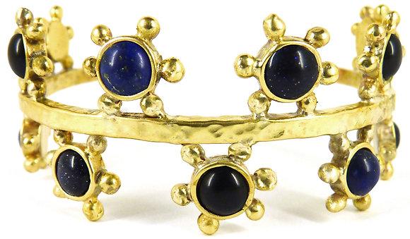 MAXIM CUFF - lapis lazuli, black onyx & blue goldstone