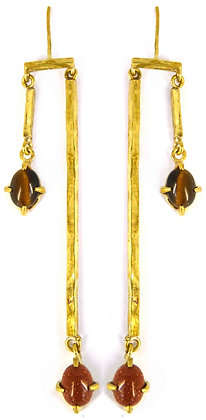 LUCIAN EARRING - tigers eye