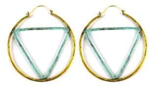 GEOMETRIC HOOP - triangle