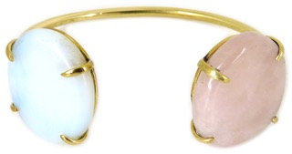 DAMARIA CUFF - opaline & rose quartz