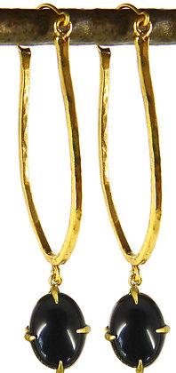 LIVINIA EARRING - black onyx