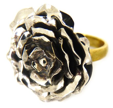 CALLY ROSE M RING - silver