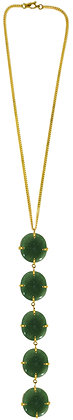 DAMARIS NECKLACE - green aventurine