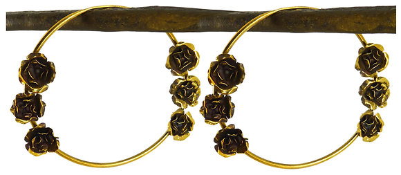 BRYONY 6 ROSE HOOPS - gold