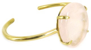 DELFINA CUFF - rose quartz