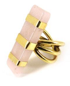 AMBROSIA RING - rose quartz