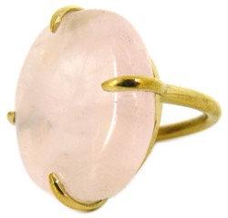 DELFINA RING - rose quartz