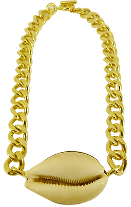 GIANT ATHENA SHELL CHAIN NECKLACE